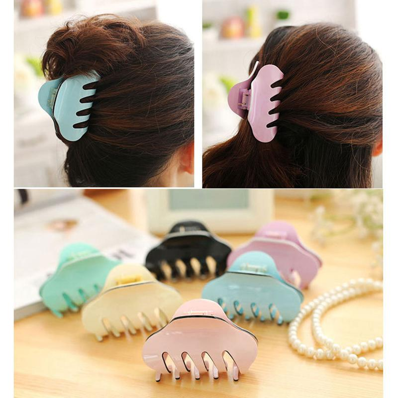 2019 New Hot Sale 1pc Korean Hair Clip Women And Girls Handmade Horsetail Candy Color Hair Pin Drop Shipping
