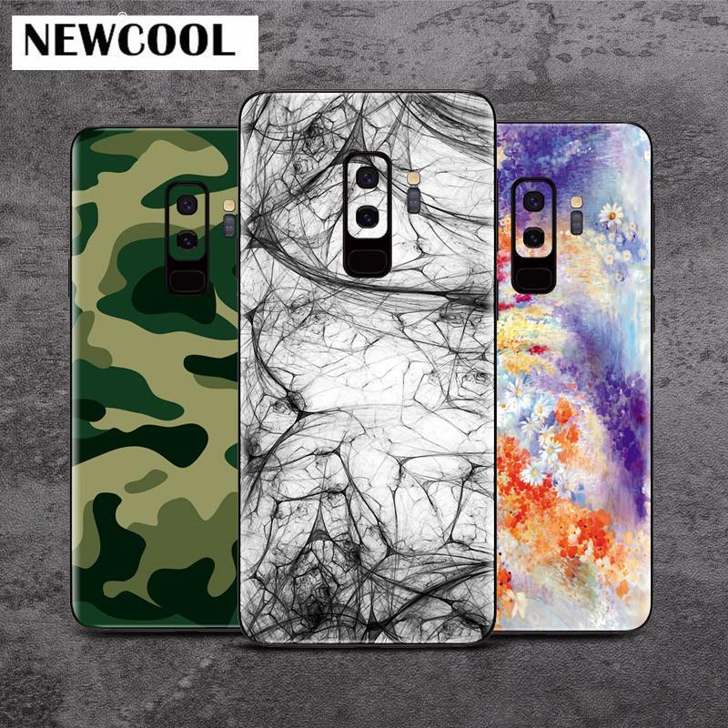 S9 S9 + رسمت خلفية فيلم ملصقات الغطاء الواقي لسامسونج غالاكسي s9 + s9 plus Phone Color back film Paster Decorative film