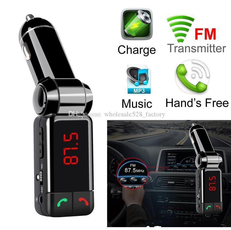 5V / 2A LCD U 디스크 플레이어를 충전 이중 USB와 BC06 블루투스 차량용 키트 블루투스 무선 FM 송신기 MP3 플레이어 핸즈프리 USB 충전기