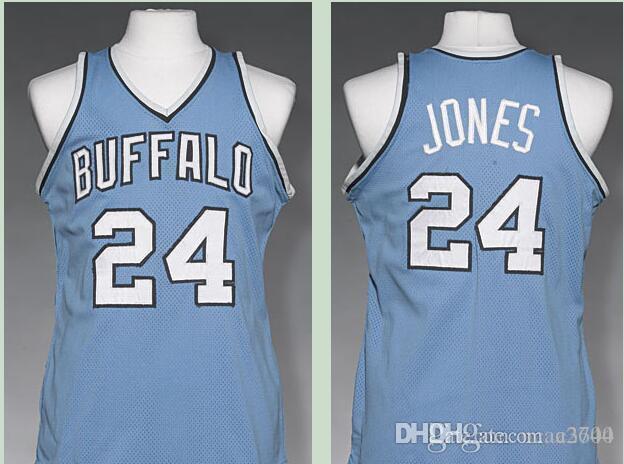 Пользовательские мужчины молодежи женщины старинные мужские Баффало #24 Уил Джонс 1977-78 баскетбол Джерси размер S-размер 4XL или пользовательские любое имя и номер Джерси
