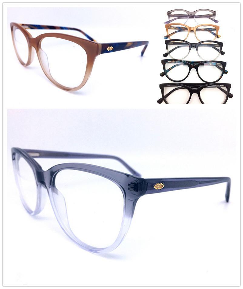 الرجال إطارات أعلى جودة العلامة التجارية تصميم بصري أزياء المرأة خمر خلات نظارات النظارات بلانك نظارات إطار نظارات نظارات HL0042