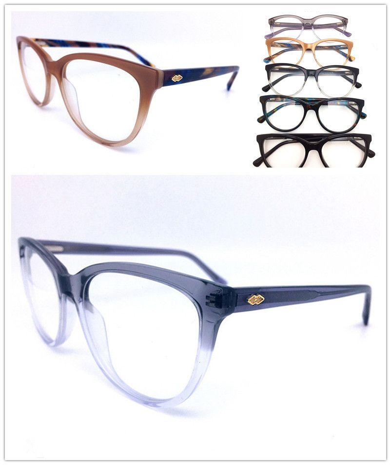 إطارات الجودة العلامة التجارية مشهد البصرية الأعلى الرجال الإطار الأزياء خمر خلات النظارات لوحات النساء نظارات HL0042 نظارات تصميم الزجاج HXVK