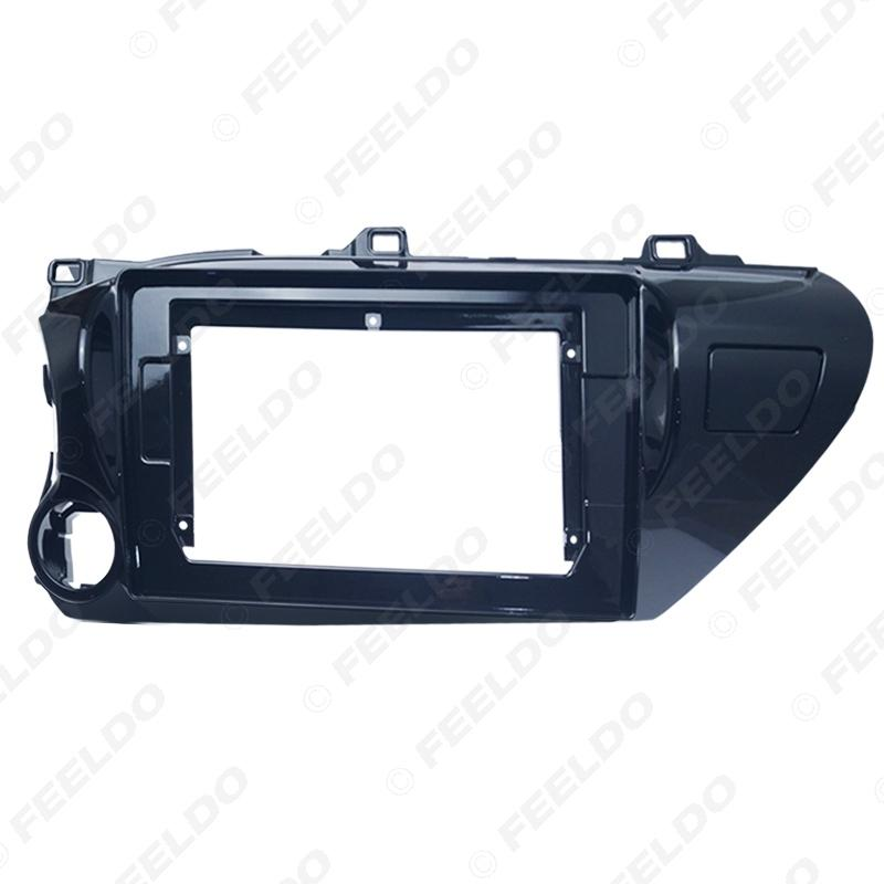 """Car Audio Radio 10.1"""" 2 Din Fascia Frame Adapter for Toyota Hilux 2018(LHD) CD/DVD Player Stereo Panel Dash Trim Kit #6308"""