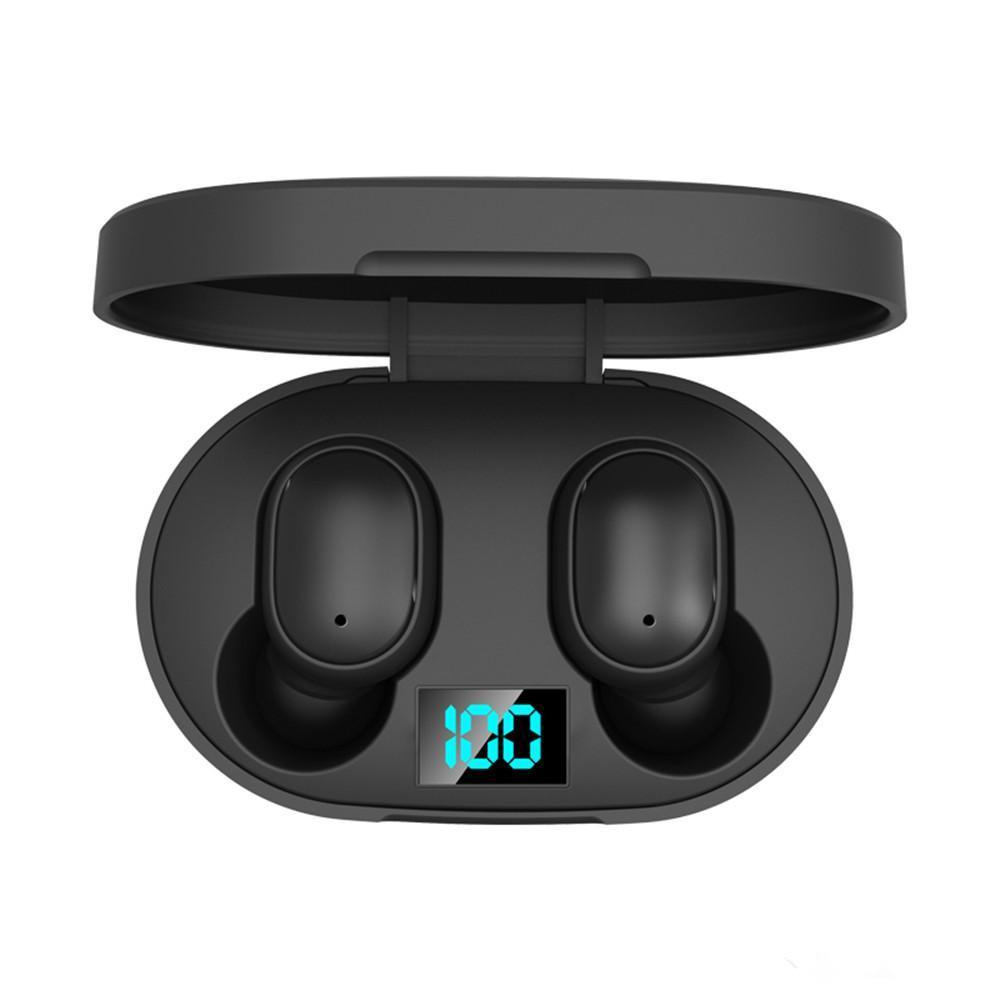 Mini TWS sem fio Earbuds E6s Headphone som de alta fidelidade Fone de ouvido Bluetooth 5.0 com dupla Mic Display Led Earphones Auto emparelhamento Headsets