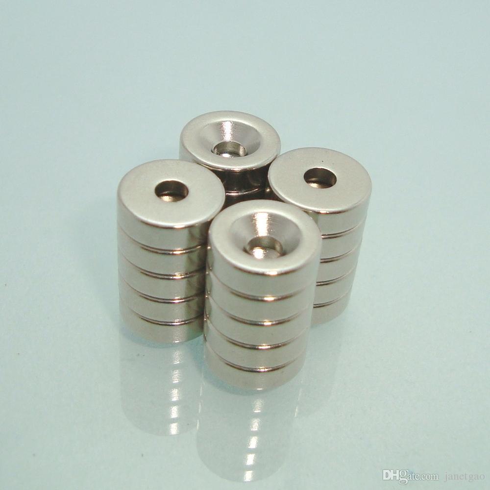 Супер сильный редкоземельный Нео кольцевой магнит 50шт Dia9. 5-3. 2/5.3x3. 2mm Магнитный с одной стороны с потайным отверстием NiCuNi покрытая поверхность