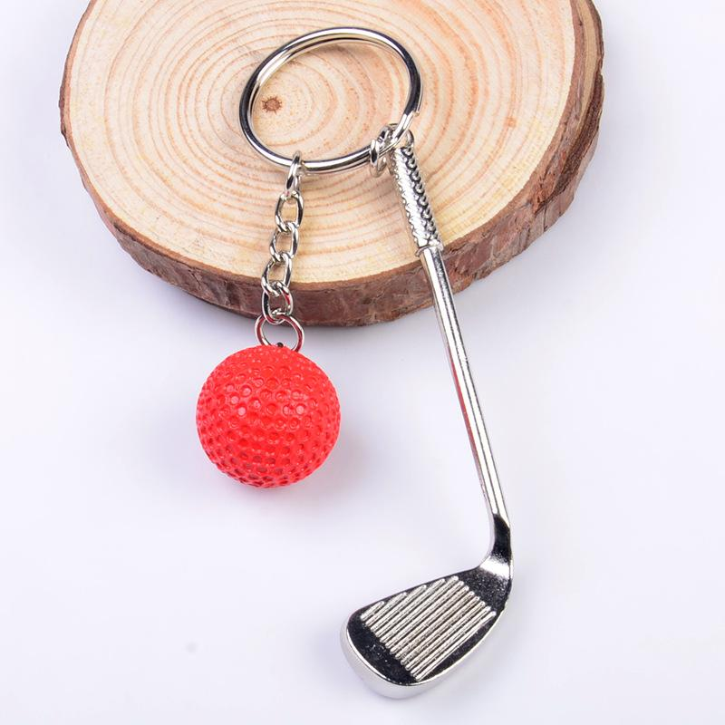 LIVRAISON GRATUITE par DHL100pcs / lot Nouveau Porte-clés en métal Golf Mode sport Nouveauté Cadeaux pour la promotion Keyrings