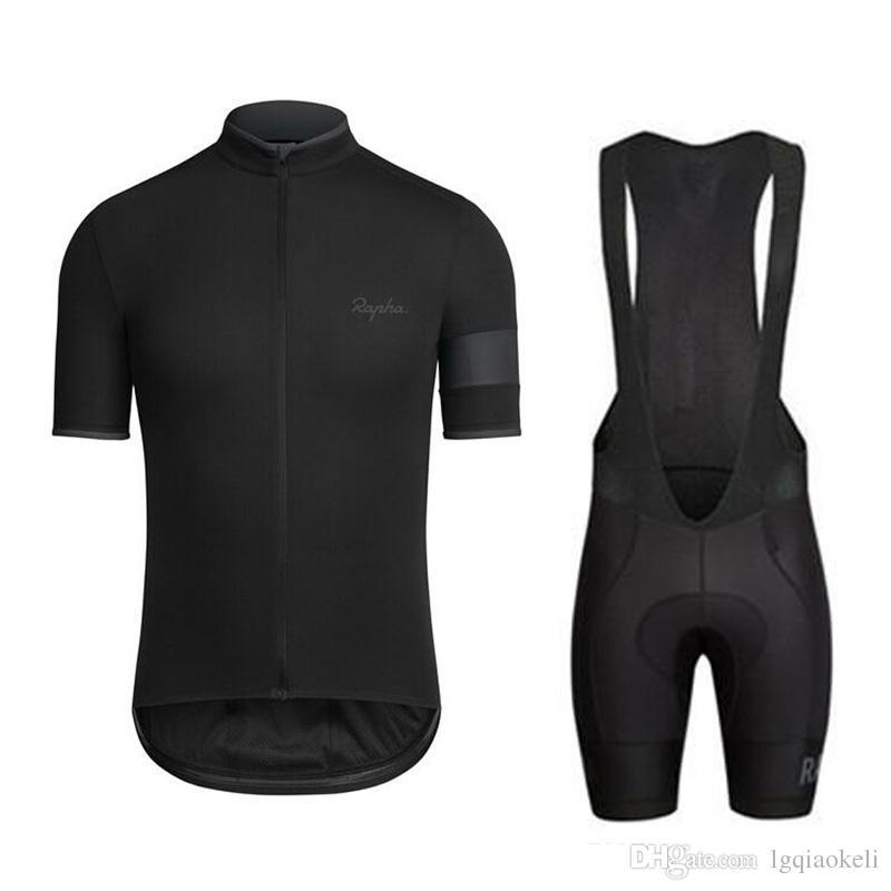 2019 Rapha Bisiklet forması bisiklet giyimi Bisiklet Giyim Erkekler kısa kollu gömlek Önlüğü Şort Takımı bisiklet giyim spor forması K072702