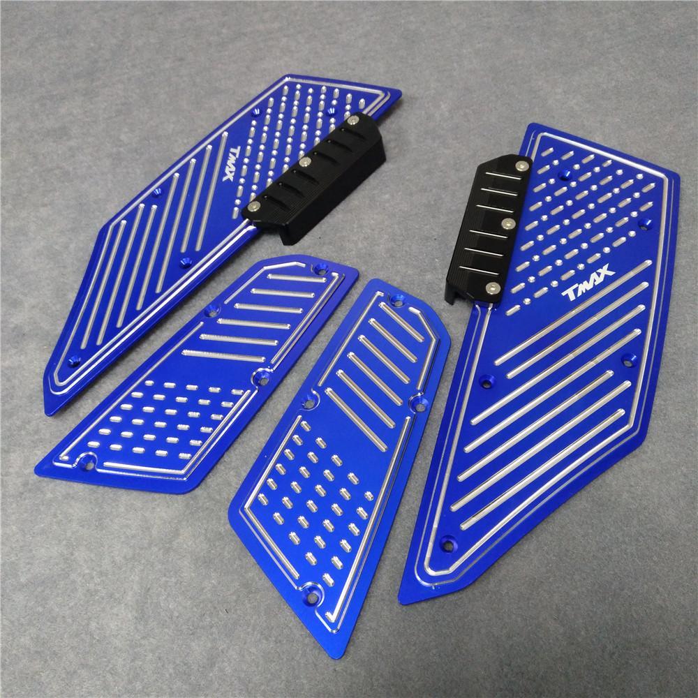 pour Repose-pieds Pédale de moto Avant Arrière Moto Footboard Marches Pied Plate pour Yamaha T Max TMax530 TMax 530 2012 2013 14