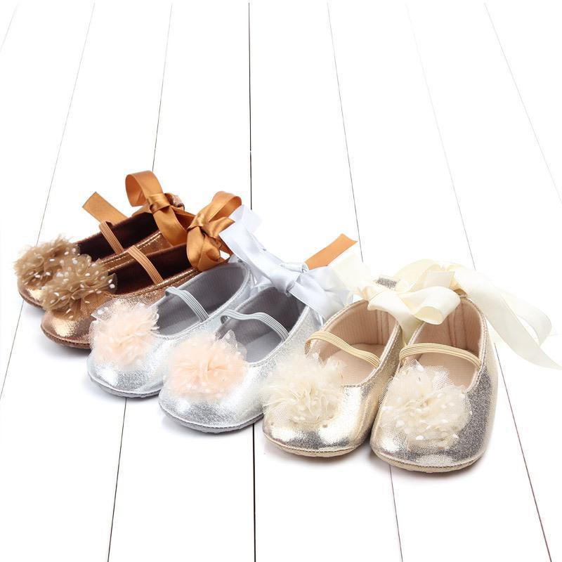 Детские туфли Симпатичные Лук-Узел Младенческие Первые Уокеры против скольжения Принцесса Обувь PU Кожаные Детские Девушки Малыш Обувь Мягкая Детская Обувь