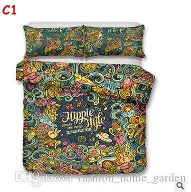 ABD AU Boyutu 3 adet Lüks Yatak Seti Yorgan Hippi Tarzı yatak Örtüsü Set Kral Boyutları Okula Geri Nevresim Set Yatak Malzemeleri