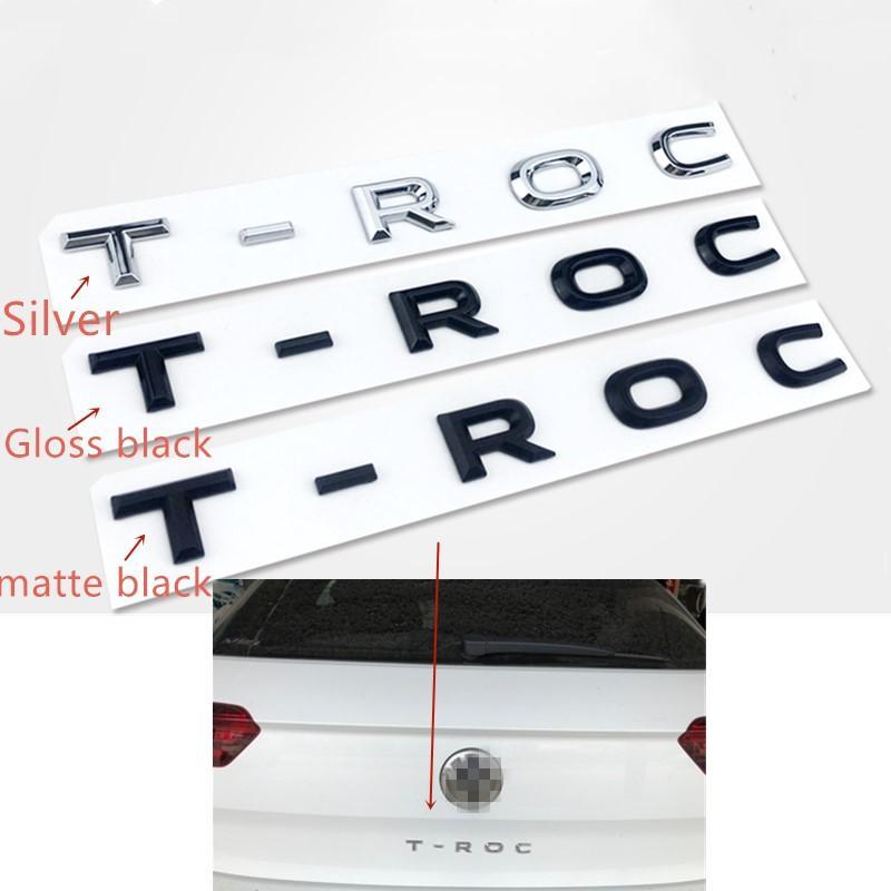 Für VW TROC TROC Koffer Emblem Tailgate Abzeichen Logo Letters Aufkleber