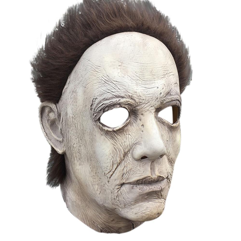 Maschera Orrore 2019 Cosplay orrore spaventoso maschera di Michael Myers di fusione faccia luminosa in lattice Costume Prop spaventoso K506 giocattolo