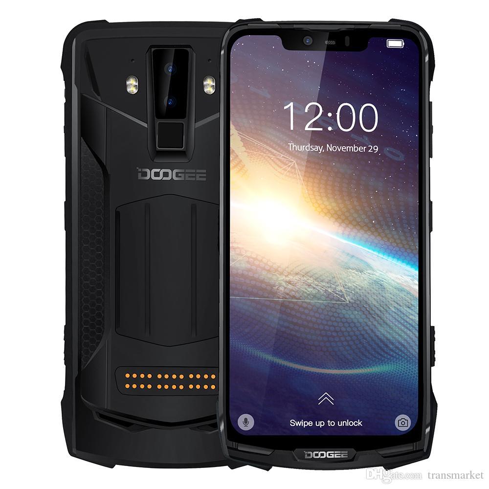 DOOGEE S90 프로 IP69K MIL-STD 방수 6기가바이트 128기가바이트 힐리오 P70 옥타 코어 6.18 ''안드로이드 9.0 NFC 폰을 충전 화면 16MP + 800 만 화소 와이파이