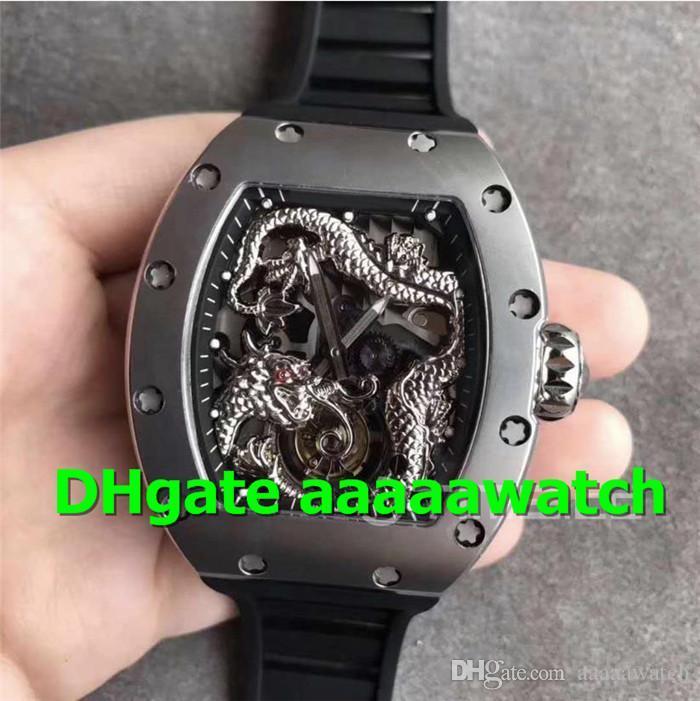 Dial TW Nova Sport Watch 057 Assista Real Tourbillon aço inoxidável Mens Watch suíço automática cristal de safira Dragon-Jackie Chan 1SS Dragão