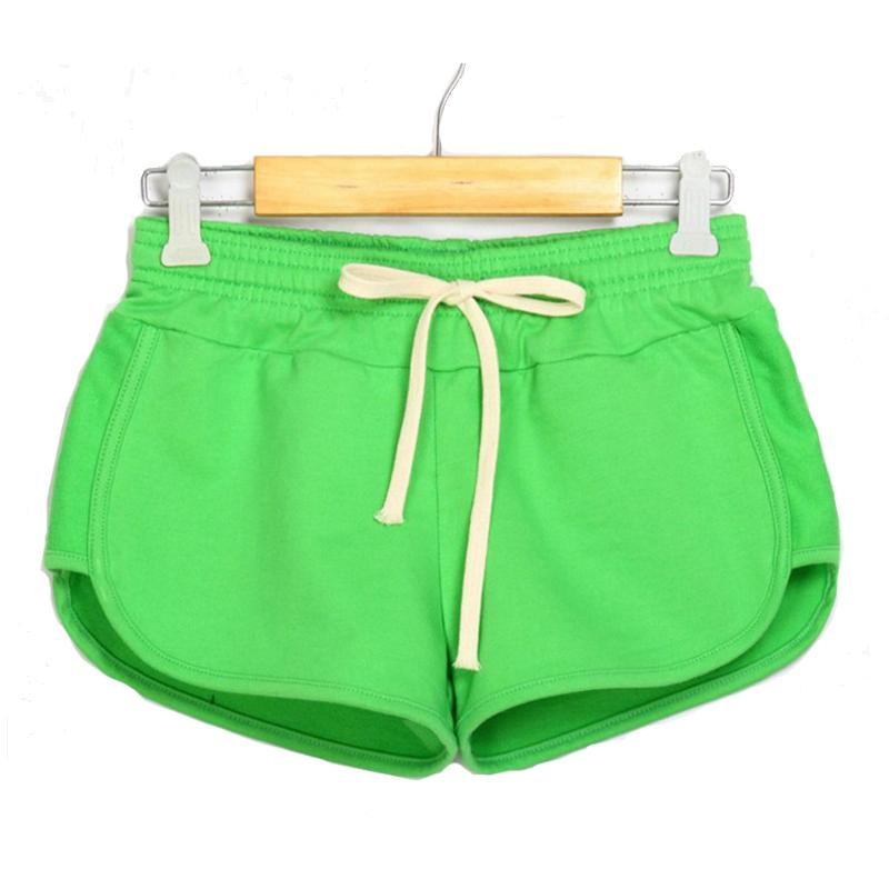 Causal Shorts Candy Color Summer Short Pants New Fashion Women Shorts Elastic Waist Lady Soft Cotton Sportwear