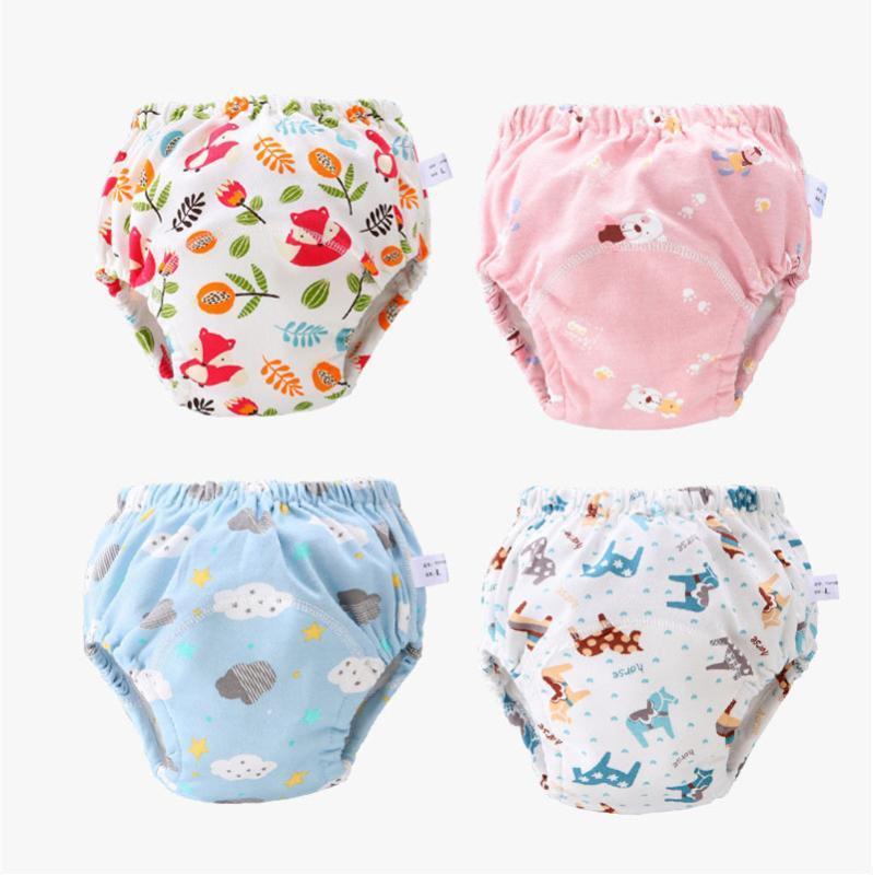 Подгузники ткани Детские Хлопок Многоразовые подгузники Симпатичные подгузники Моющиеся младенцы Детские тренировки Брюки трусики подгузники