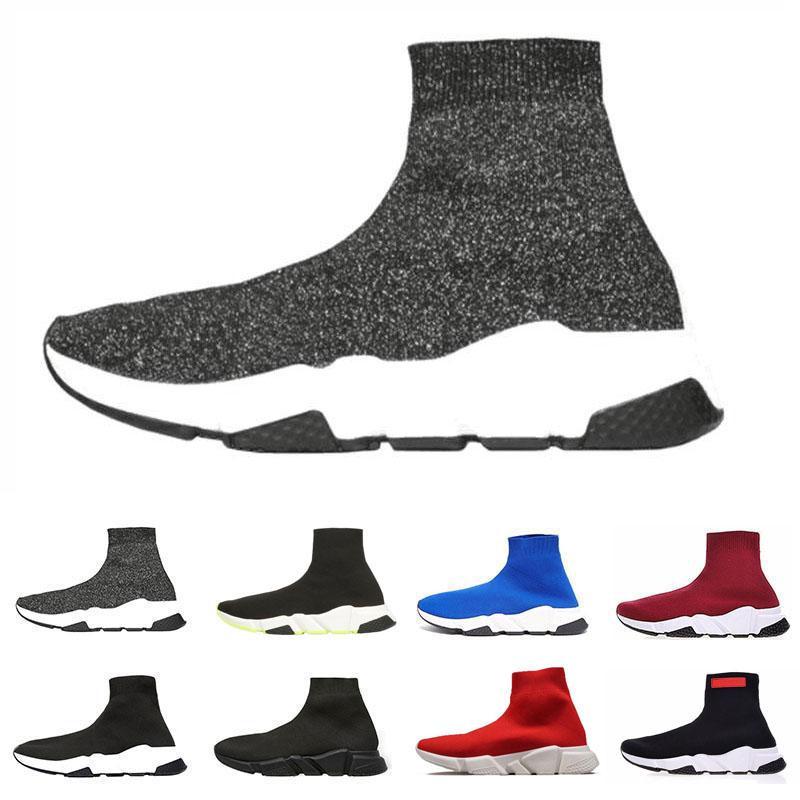 chaussures balenciaga triple S 2020 новый дизайнер носки обувь скорость тренер мужчины кроссовки скорость тренеры носок гонки бегунов женская спортивная обувь роскошные туфли