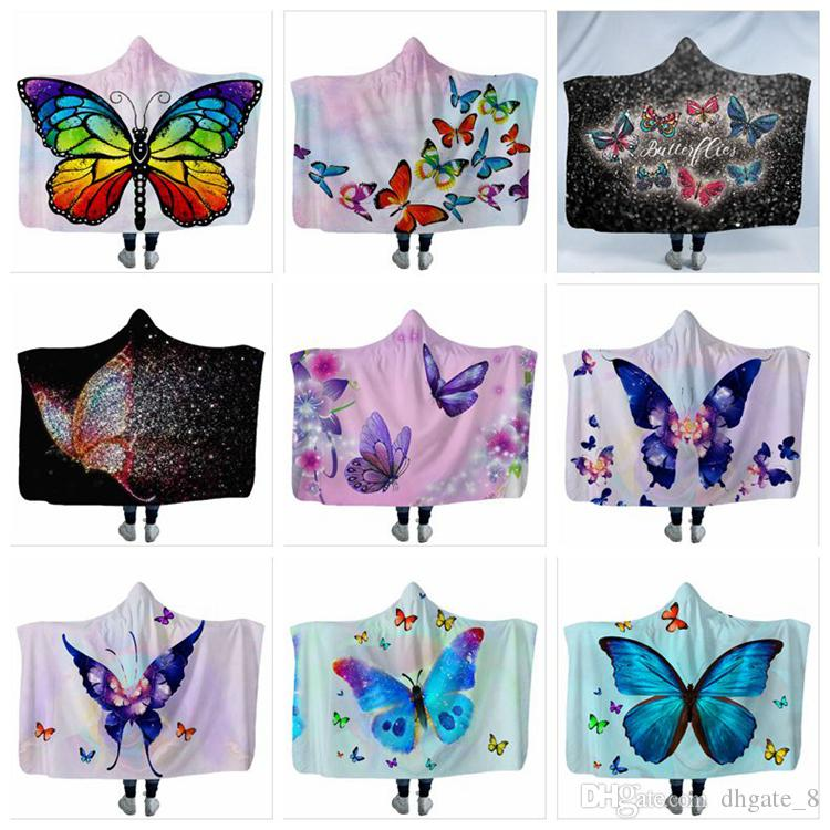 Butterfly Hooded Blanket Cloak blanket fancy children's blanket Soft Warm explosive goods winter must-have unique design YSY2
