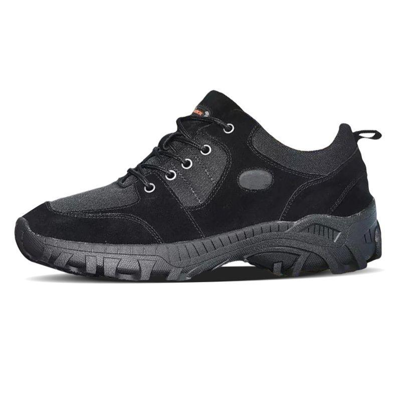 En blanco y negro zapatos casuales para Hombres tamaño respirable cómodo de alta calidad al aire libre Correr Senderismo Hombres zapatillas de deporte 40-45