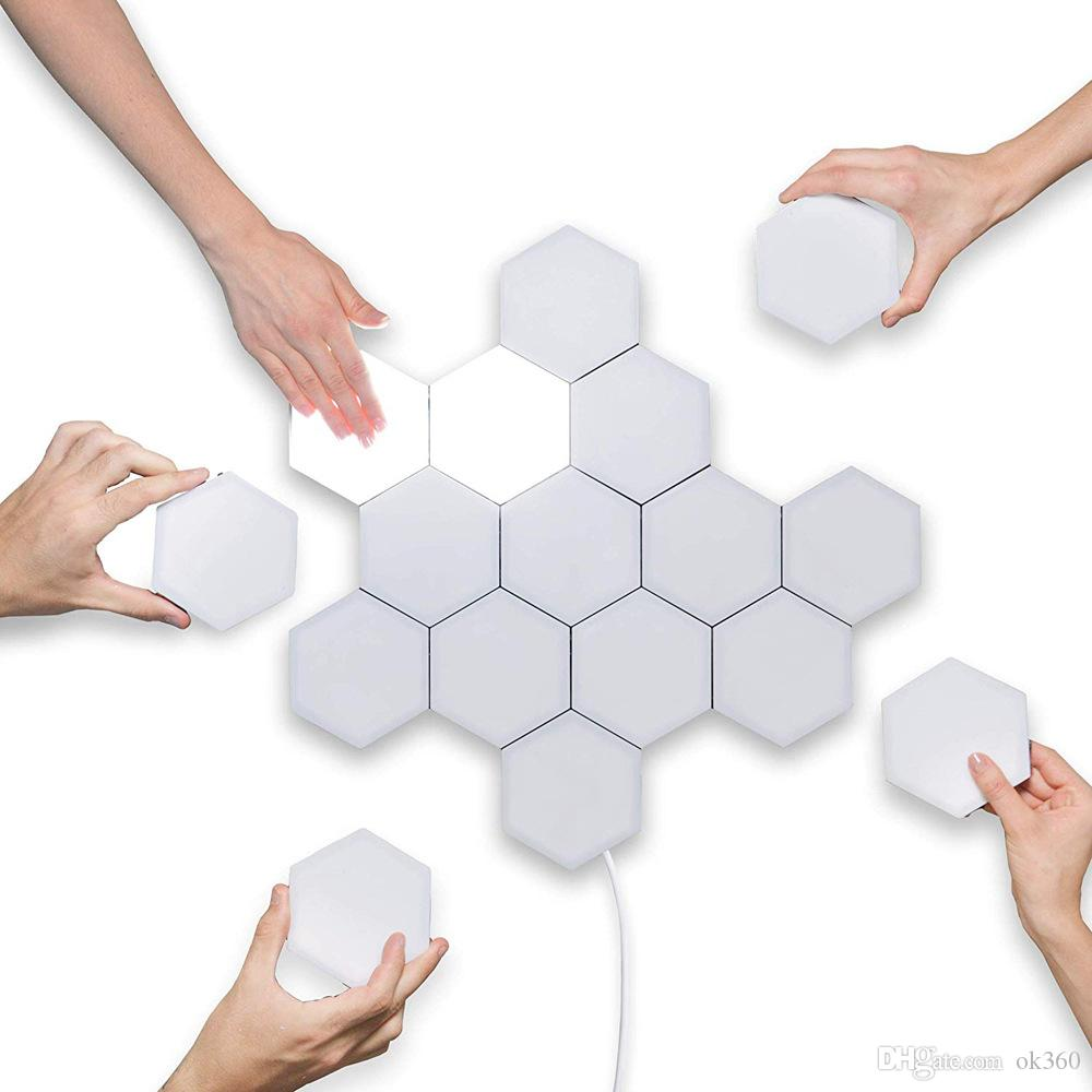 Led Qui Se Colle acheter diy quantum light touch sensitive sensor lampe de nuit modulaire  hexagonal lumières magnétiques led lampe de mur nouveauté creative  décoration