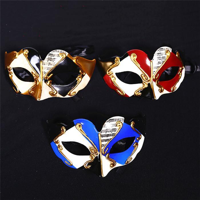 3 Farben obere Hälfte Gesicht Maskerade-Schablonen für Kinder Designer kreative Halloween-Gesichtsmaske Cosplay Plastikmascherina 15H01