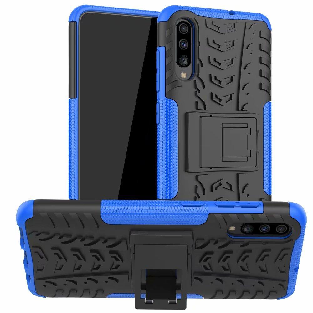 Cassa del telefono del silicone antiurto Kickstand Armatura per Samsung A10 A20 A30 A50 A70 A51 A71 A01 A21 A41 A10S A20S A70S Back Cover