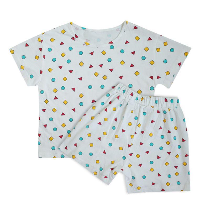 дети малыш мальчик летней одежды Мультфильм полосатая рубашка + брюки младенца девушки обмундирования младенца Спортивные костюмы Спортивные костюмы детской одежды