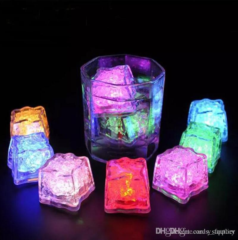 Led Lights Polychrome Flash Party Lights LED Glowing Ice Cubes Blinking Ice Cubes Light Up Party Decoration
