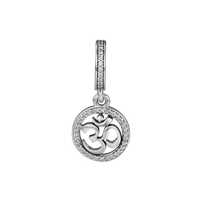 30 Charms 925 sterling silver adatti braccialetto stile fai da te OM simbolo penny 797584cz h8