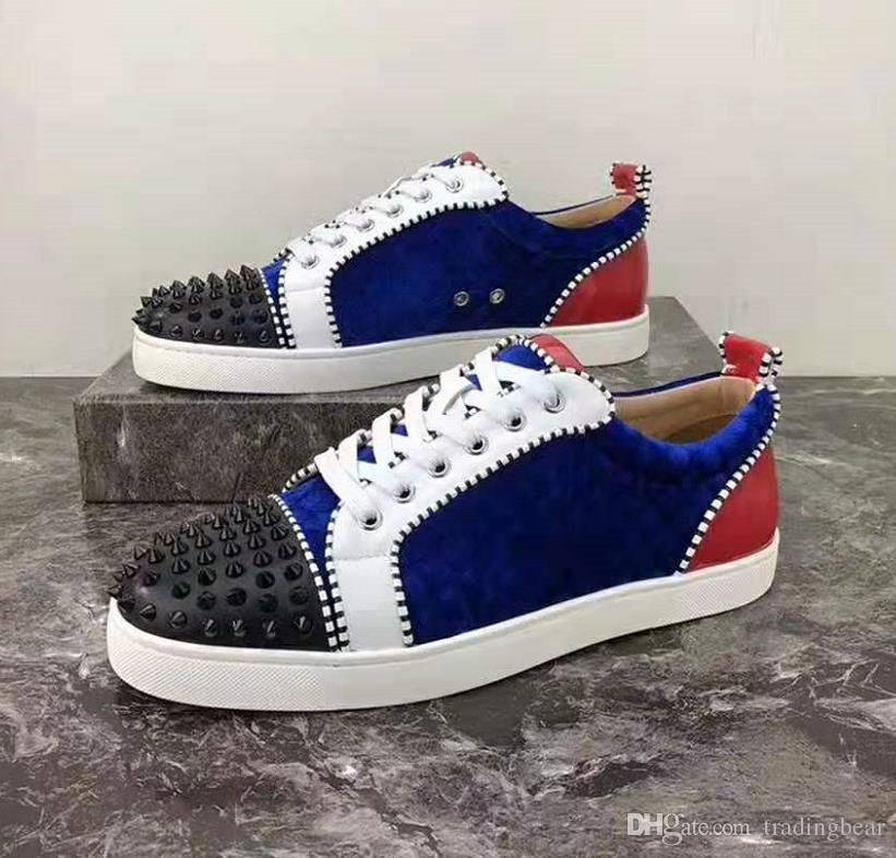 Plus Size 35 To 42 To 46 Mens Spikes Orlato Red Bottoms Shoes Arena Shoes Fashion Luxury Designer Sneakers Come With Logo Box