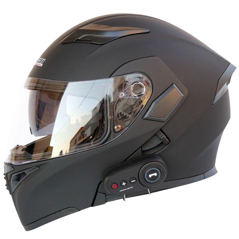 Motosiklet kask motosiklet bluetooth kask elektrikli araç 1200 mAh pil ömrü