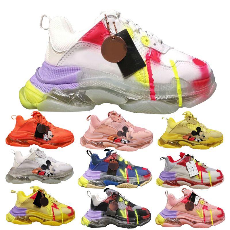 Haute Qualité mode Luxe Designer Homme Chaussures Triple S Sneakers Luxe femmes Designer Chaussures de tennis Hommes Chaussures de course 35-45