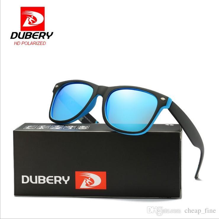 DUBERY Vintage Sonnenbrille Polarized Herren DUBERY Design PolGlasses Für Herren Square Shades Driving Schwarz Sommer Oculos Männlich 8 Farben Modell 189