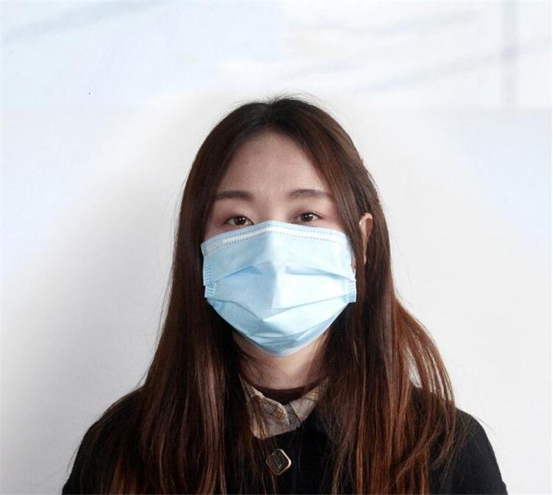 Versenden! Maske Hood FaceBlue 3 PlyEarloop DHL Non Woven Fabric Prevent 95% Filtration Kostenloser Versand KPCW