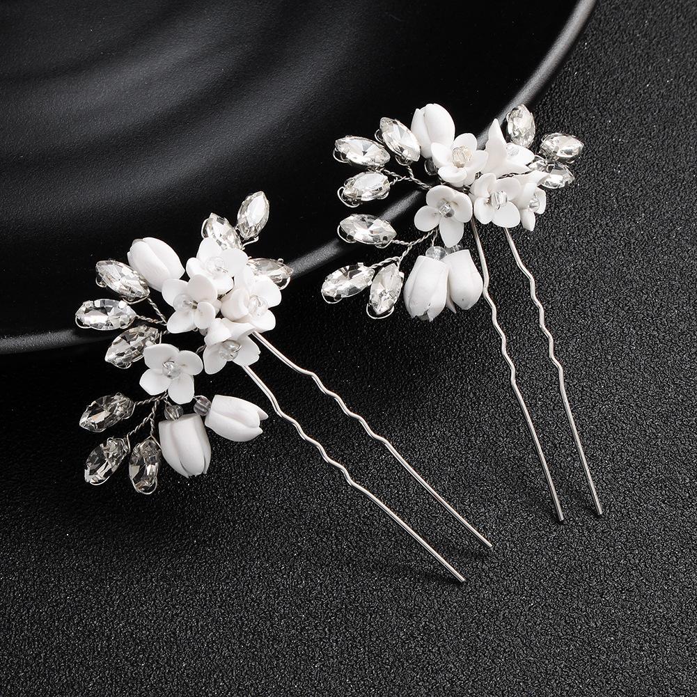2pcs Wedding Bridal Pearl Crystal Clips Comb Hair Pins Bridesmaid Accessories UK