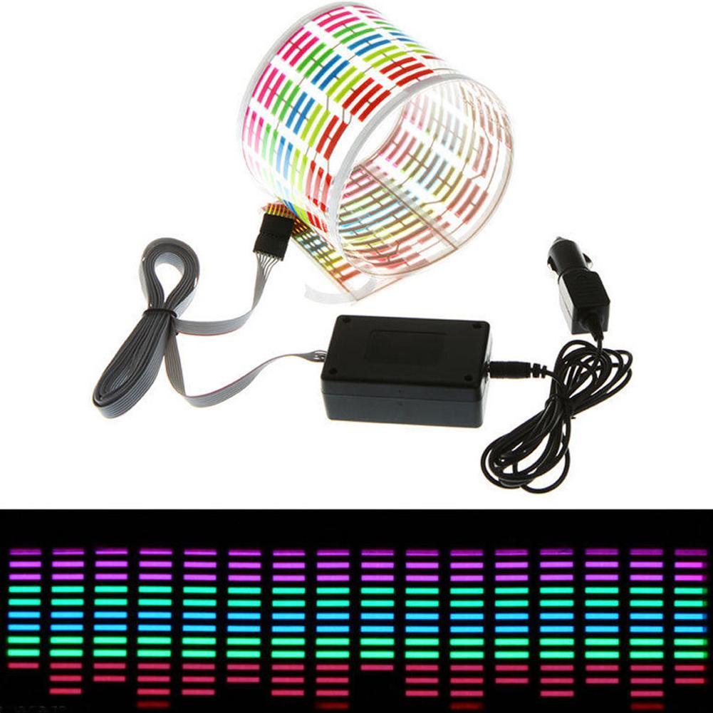 8W 12V flash LED di controllo del suono Sticker Light Equalizer Musica Decor Ritmo Audio 90 * 10 cm 90 * 25 cm 114 * 30 centimetri