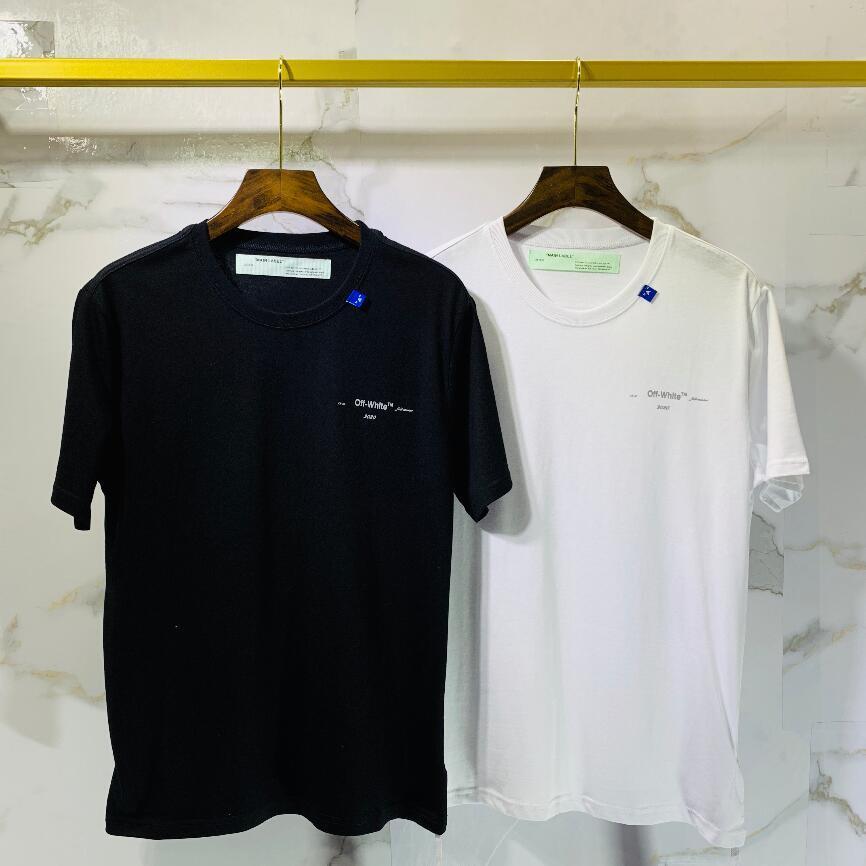 2020 Mens T-Shirts Casual Fashion Trend tops de cuello redondo impresión de la letra material importado de algodón transpirable cómodo Tees1110