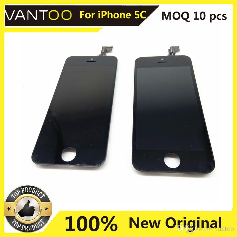 100% New Original For iPhone 5C LCD Display Touch Screen Digitizer Assembly Replacement Free DHL Black Color