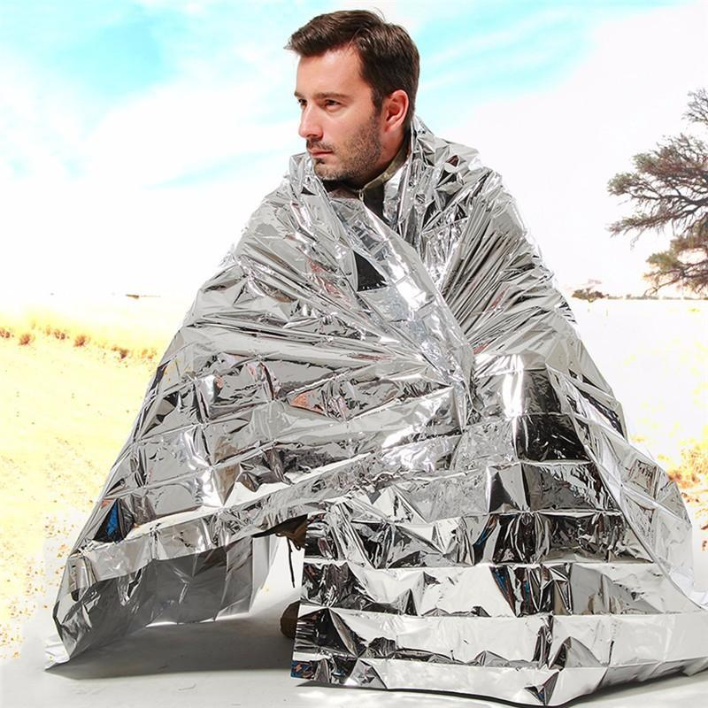 500pcs Waterproof outdoor Emergency Survival Foil Thermal First Aid Rescue Blanket party gift
