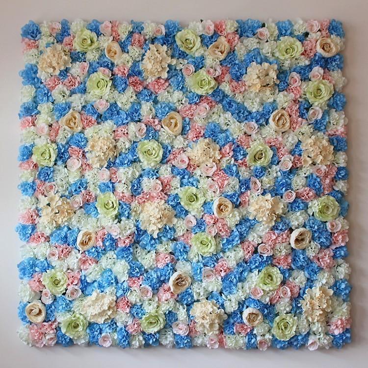 evre veya arka plan düğün yapay çiçek dekorasyon için 10pcs / lot romantik düğün çiçeği duvar ortanca çiçek gül