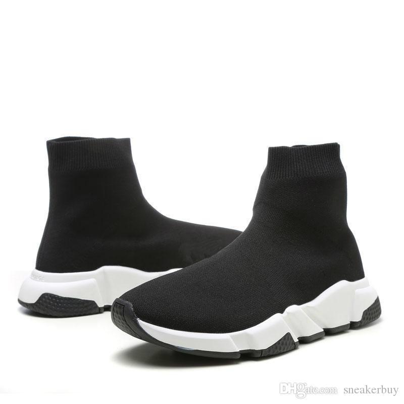 Mit Box 2021 Runner Schuhe Socke Mode Schuhe Triple Black Oreo Rote Flache Männer Frauen Schuhe US4.5- US11.5