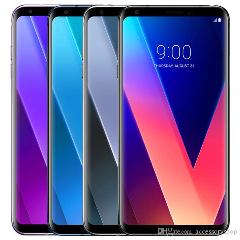 Refurbished Original LG V30 H930 H931 6.0 inch Octa Core 4GB RAM 64GB ROM 16MP Unlocked 4G LTE Smart Mobile Cell Phone Free DHL 1pcs