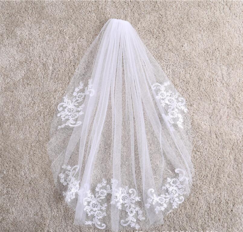 comércio exterior explosão modelos simples camada única ossos curtas de carro na flor vara diamante branco puro véu de noiva véu nó acesso casamento
