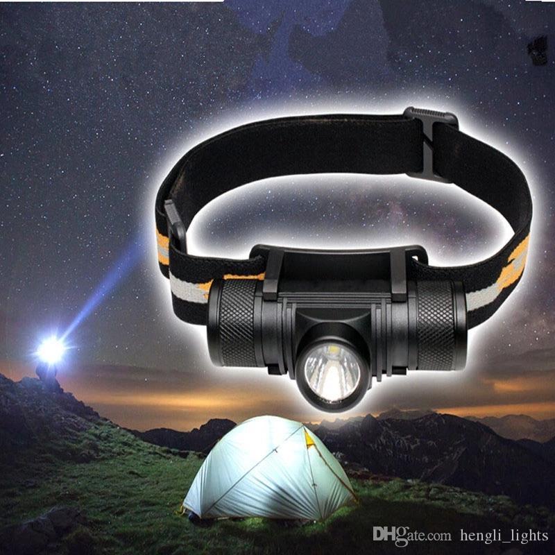 Powerfu avec LED USB facturable 18650 T6 10W Lampe torche Lampe frontale 800lm Led lampe tactique JK0187