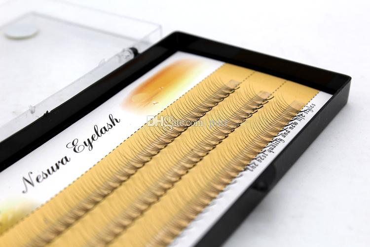 Wholesale eyelash custom Private label 3 rows 0.07mm Thickness 4 roots/Cluster classic 3D individual eyelashes EyeLashes Extension