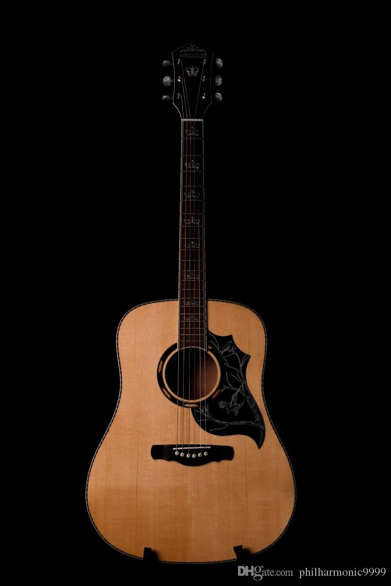 41-inch Bioussin, spruce panel side rear Shabelle, log color, rounded fingerboard inlay. freight free