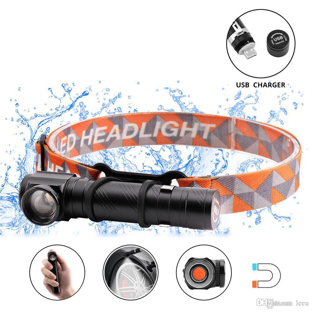 Multifunktions wiederaufladbare LED-Scheinwerfer LED-Taschenlampe CREE XML-T6 4000LM Scheinwerfer Kann als Taschenlampe und Arbeitslicht verwendet werden