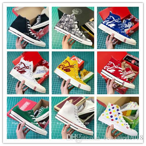 2019 Brand New 22 Colors High Top Sports Stars Low Top Classic Canvas True Standard Shoes Sneakers Men's Women's Vulcanized Plate Shoes
