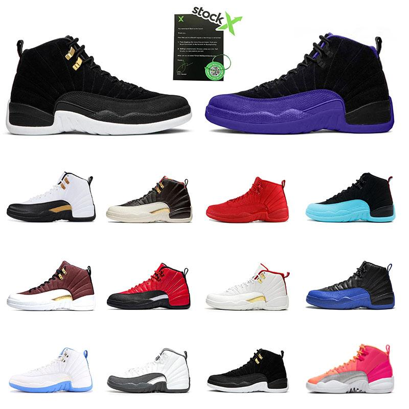 Dark Concord 12s Men Basketball Shoes New Arrivals 12 Reverse flu Game Reverse Taxi Hot Punch Sports Sneakers Mens Trianers