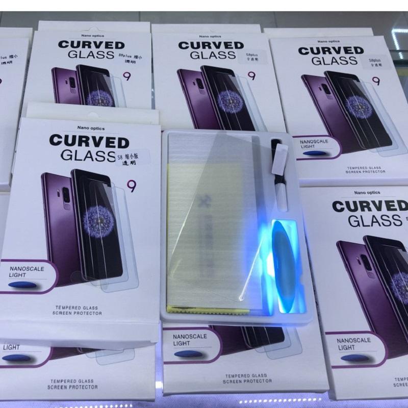UV NANO السائل الغراء 3D منحني زجاج المقسى لسامسونج S20 S10 S9 زائد S8 ملاحظة 10 9 8 شاشة السينما حامي للحصول على غالاكسي Note20 مع حزمة